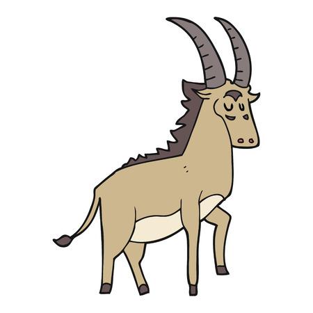 antelope: freehand drawn cartoon antelope