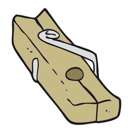 peg: freehand drawn cartoon wood peg