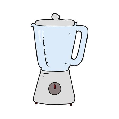 licuadora: dibujado a mano alzada batidora de dibujos animados Vectores