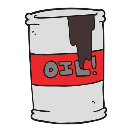oil drum: freehand drawn cartoon oil drum