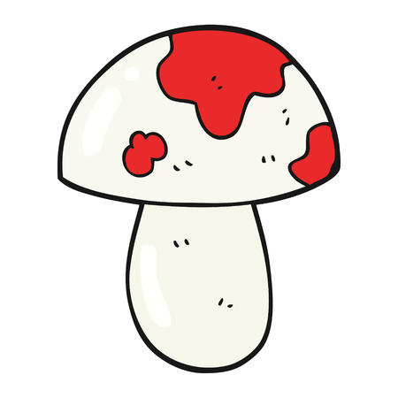 a toadstool: freehand drawn cartoon toadstool Illustration