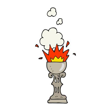 goblet: freehand drawn cartoon magic goblet Illustration