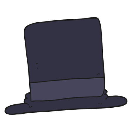 free hand: freehand drawn cartoon top hat