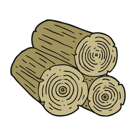 logs: freehand drawn cartoon logs