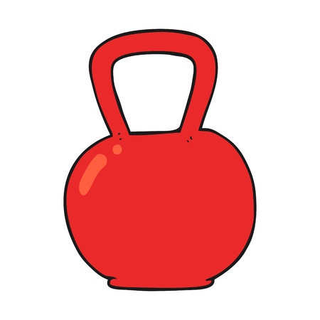 kettle bell: freehand drawn cartoon kettle bell Illustration
