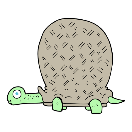 tortoise: freehand drawn cartoon tortoise