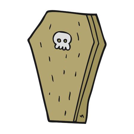 coffin: freehand drawn cartoon halloween coffin