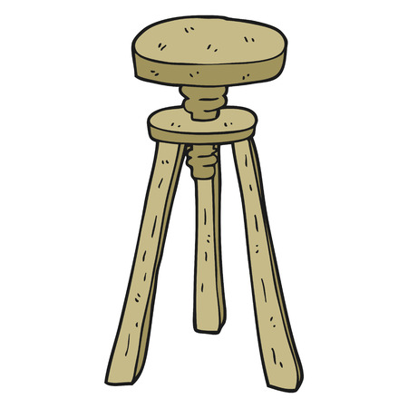 stool: freehand drawn cartoon artist stool