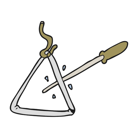 triangle musical instrument: freehand drawn cartoon triangle Illustration