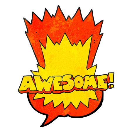 shout: awesome freehand drawn texture speech bubble cartoon shout