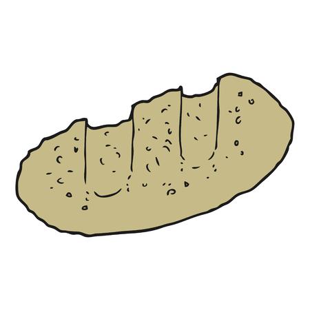 cartoon bread: freehand drawn cartoon bread