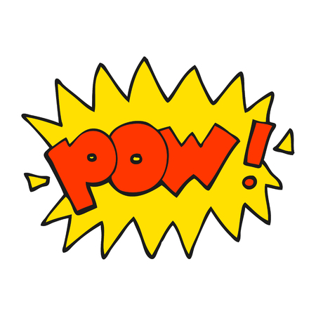 pow: freehand drawn cartoon pow symbol Illustration