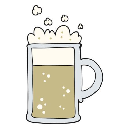 tankard: freehand drawn cartoon tankard of beer