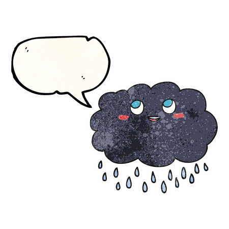 stormcloud: freehand drawn texture speech bubble cartoon raincloud Illustration