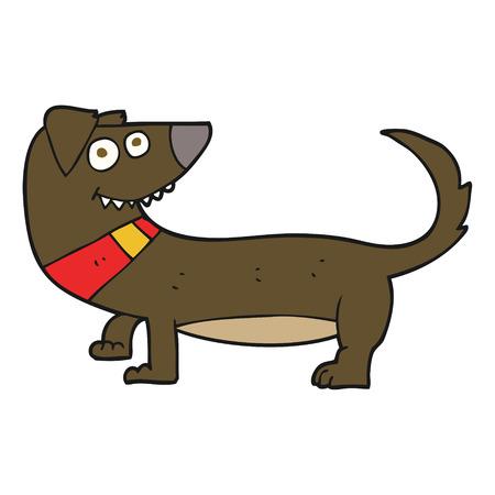cartoon dog: freehand drawn cartoon dog