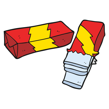 chew: freehand drawn cartoon chewing gum