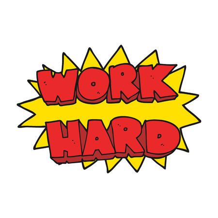 a mano libera simbolo duro lavoro dei cartoni animati disegnati Vettoriali