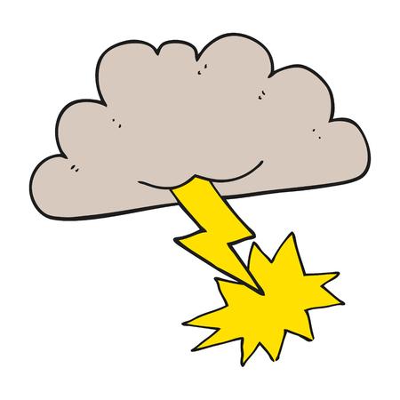 freehand drawn cartoon storm cloud royalty free cliparts vectors rh 123rf com cartoon character with storm cloud over head cartoon storm cloud with lightning