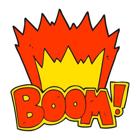 crazy: freehand drawn cartoon boom symbol Illustration