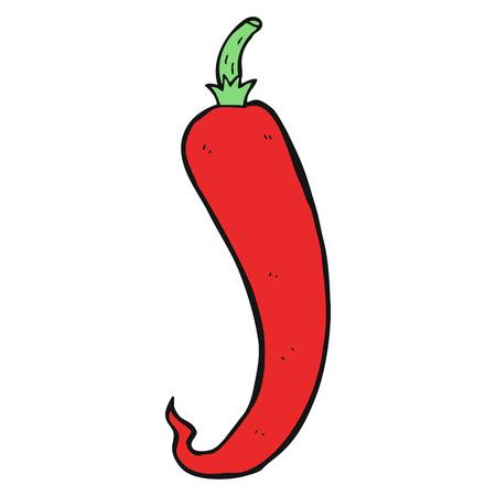 chilli pepper: freehand drawn cartoon chilli pepper