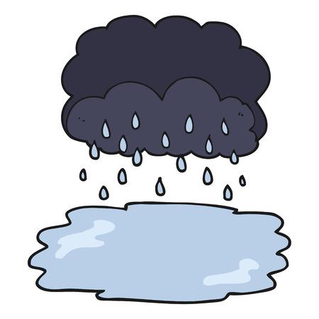 stormcloud: freehand drawn cartoon rain cloud