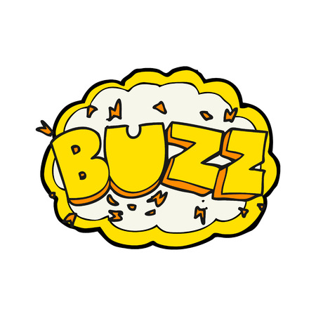 buzz: freehand drawn cartoon buzz symbol