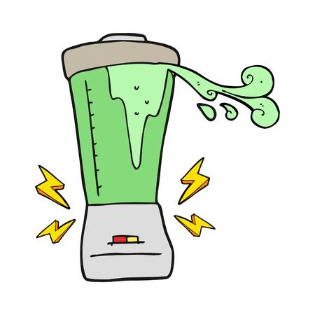 gone: freehand drawn cartoon blender gone crazy Illustration