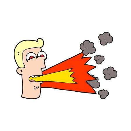 shouting: freehand drawn cartoon shouting man