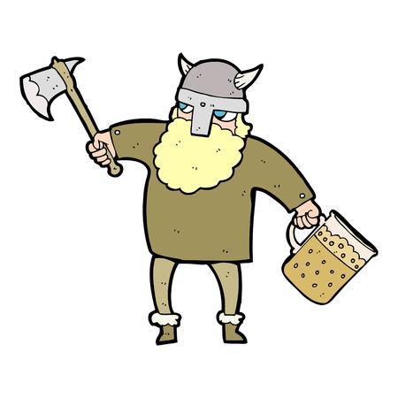 tankard: freehand drawn cartoon drunk viking