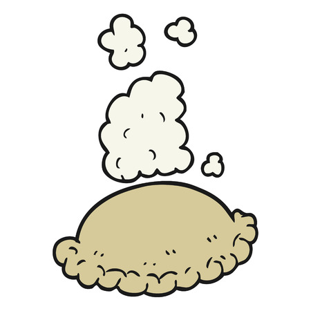pasty: freehand drawn cartoon baked pasty Illustration