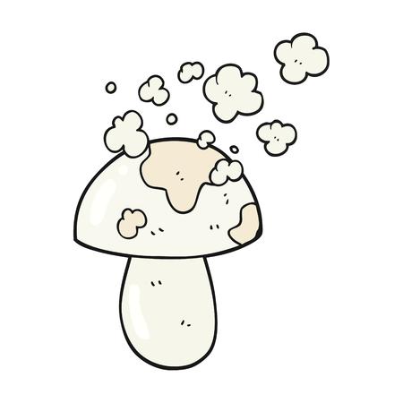 cartoon mushroom: freehand drawn cartoon mushroom Illustration