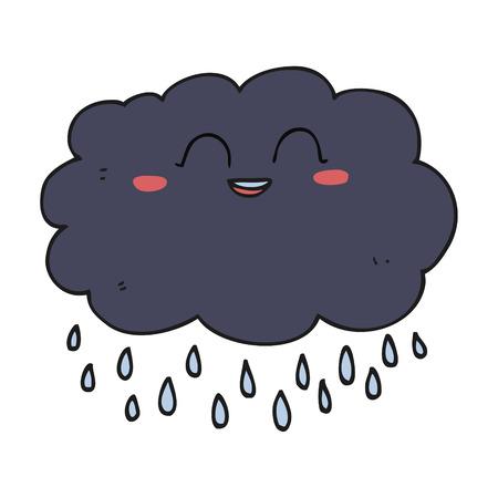 stormcloud: freehand drawn cartoon raincloud
