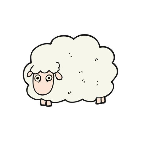 farting: freehand drawn cartoon farting sheep