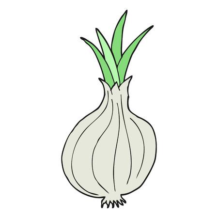 cartoon onion: freehand drawn cartoon onion
