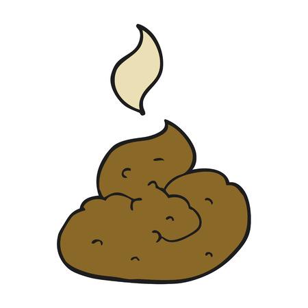 stinking: freehand drawn cartoon gross poop