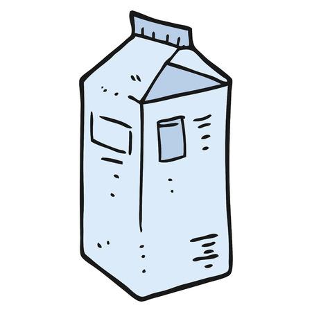 carton de leche: a mano alzada dibujo animado hecho cart�n de leche