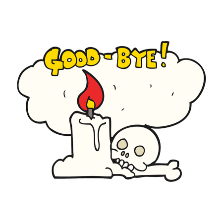 goodbye: freehand drawn cartoon goodbye sign