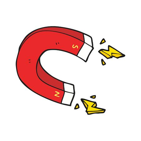 uit de vrije hand getekende cartoon magneet