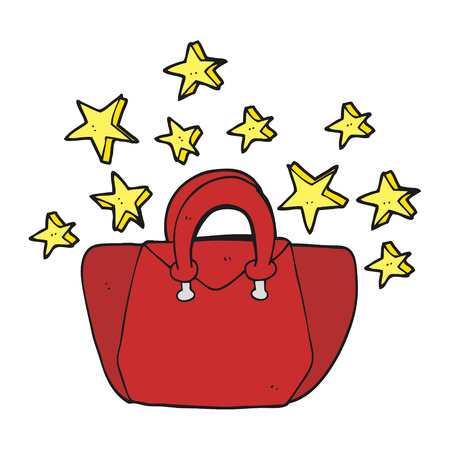 is expensive: freehand drawn cartoon expensive handbag
