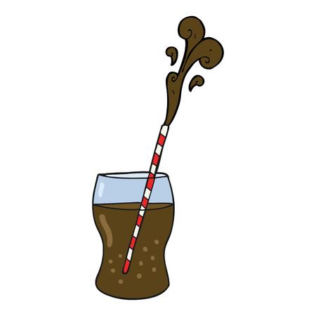 fizz: freehand drawn cartoon fizzy drink