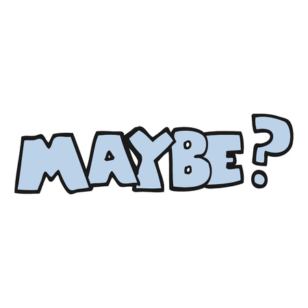 maybe: maybe freehand drawn cartoon symbol