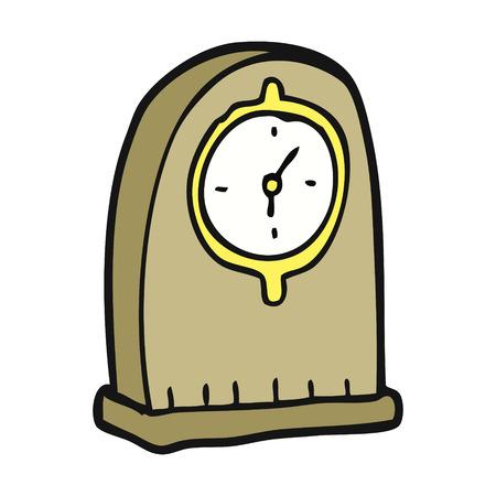 old clock: freehand drawn cartoon old clock