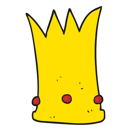 tall: freehand drawn cartoon tall crown Illustration