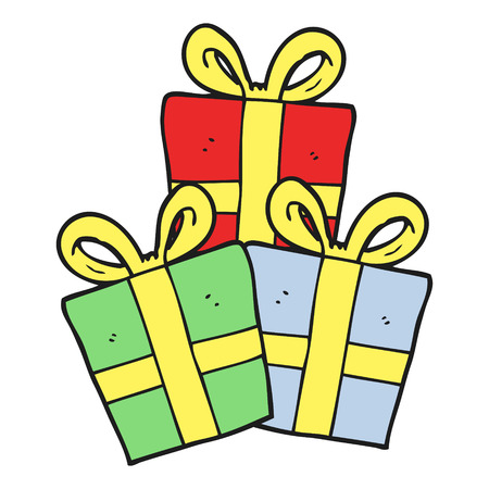 christmas gifts: freehand drawn cartoon christmas gifts