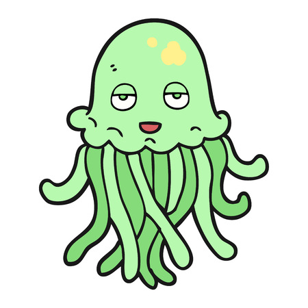 cartoon octopus: freehand drawn cartoon octopus