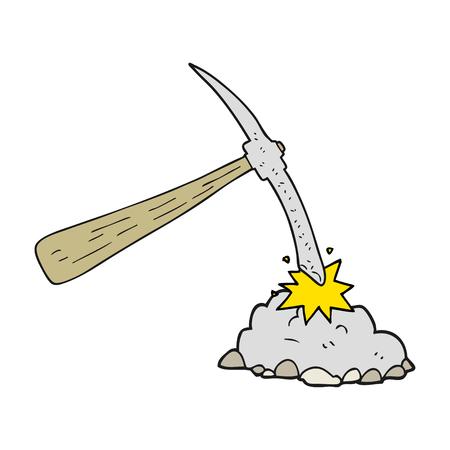 pick axe: freehand drawn cartoon pick axe