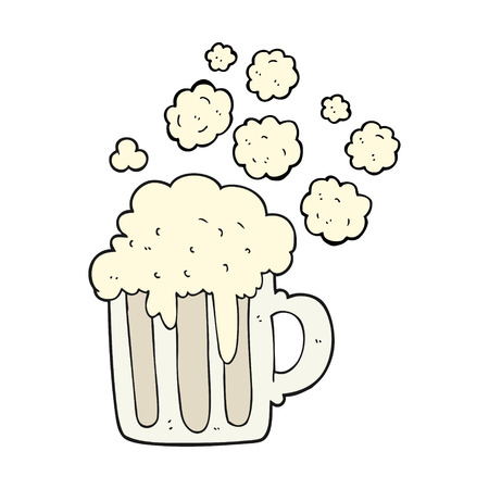 foamy: freehand drawn cartoon foamy beer