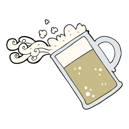 pouring: freehand drawn cartoon pouring beer
