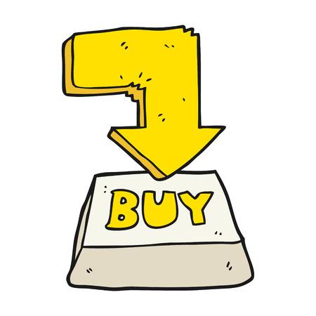 hand key: freehand drawn cartoon computer key buy symbol