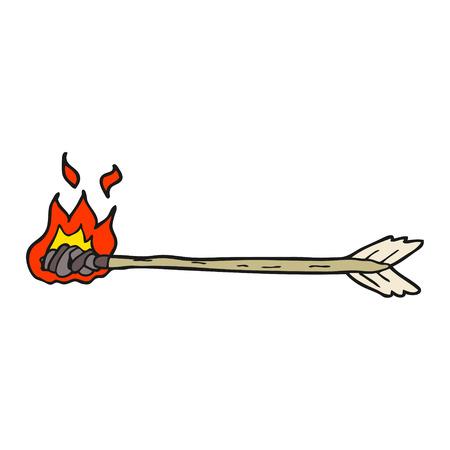 flaming: freehand drawn cartoon flaming arrow